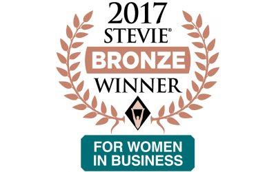 BLUNT STRATEGIC WINS BRONZE STEVIE® AWARD IN 2017 STEVIE AWARDS FOR WOMEN IN BUSINESS